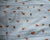 Rare Heather Ross Lightning Bubs- Blue Goldfish fabric, Hard to Find