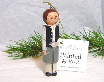 PAUL REVERE Ornament, hand painted on wood in USA