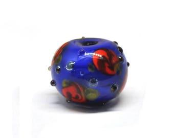 Blue rose bead