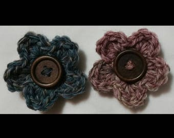 Crochet Flower Fridge Magnets