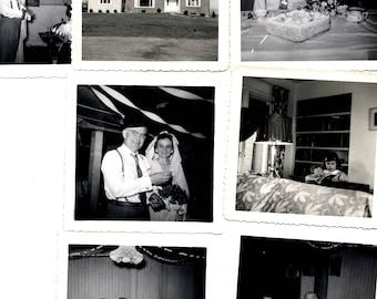 Vintage Photo lot of 2nd wedding photos snapshots grandma & grandpa baby and more