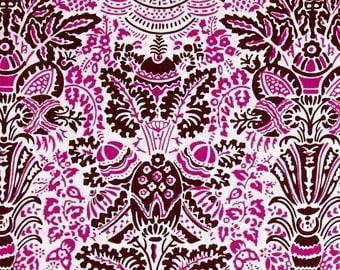 HALF YARD - Jennifer Paganelli Fabric, Color Brigade, Stephanie, Maroon, Pink, Brown, cotton quilting fabric