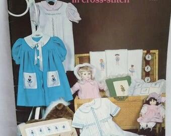 Little Girls in Cross Stitch, Cross Stitch Pattern, Birthday Girls, Baby Doll Pattern, Ballet Girl,Christening Doll,Supplies, Sewing Pattern