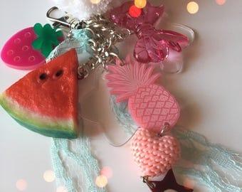 Watermelon BAGcharm or keychain