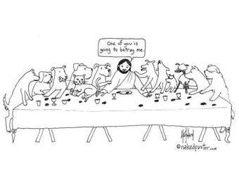 Dogs and Cat Disciples CARTOON