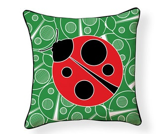 Lady Bug Indoor/Outdoor Pillow