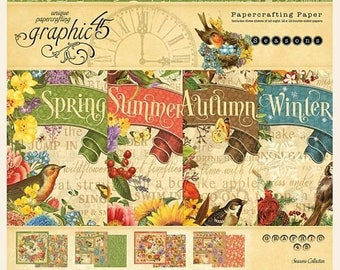 NOW ON SALE Preorder Graphic 45 Seasons 12x12 Paper Pad