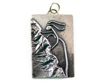 Rock Climbing Jewelry - Sterling Pendant - Climbing Jewelry - Outdoor Womens Fashion