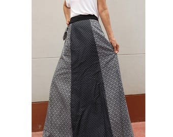 Handmade 8 Pieces floral Thai batik Sarong patchwork long comfortable wear wrap skirt fit all size