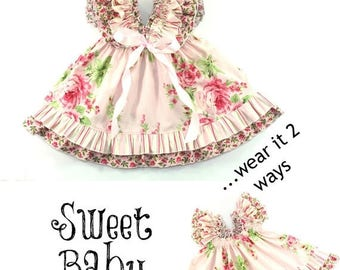 SALE Girls Dress Pattern -- Sweet Baby Doll --Dress 0 months through 12 girls PDF Instant
