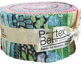 "Amanda Murphy Meadow Dance Pinwheel 2.5"" Precut Fabric Quilting Cotton Strips Jelly Roll Benartex"
