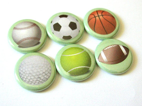 Magnets Set Teacher Coach gifts for him Sports Balls Soccer Basketball Golf Football Tennis Baseball party stocking stuffer back to school