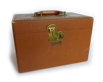Vintage Luce Luggage Caramel Train Case