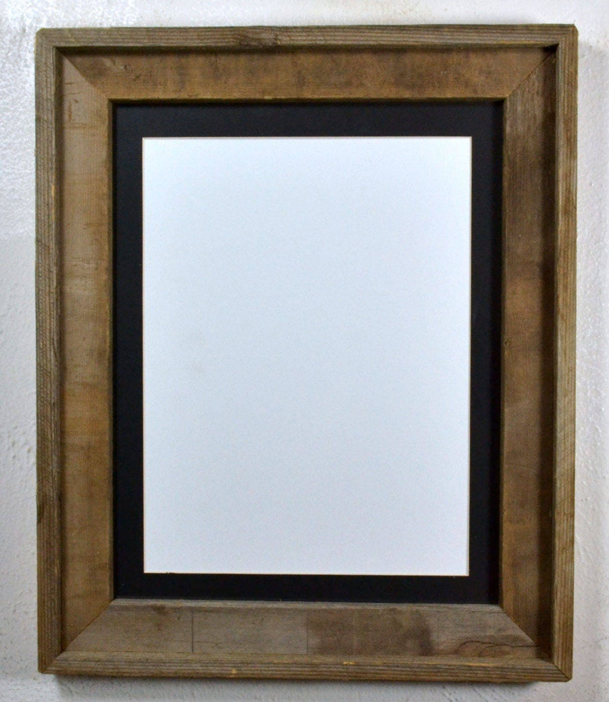 Rustic Style Picture Frame With 9 Quot X 12 Quot Black Mat Fits