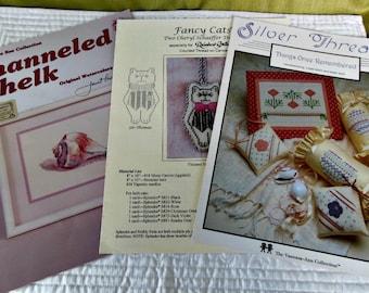 Needledwork, Cross Stitch, Needlepoint Books/Charts - Set of 3