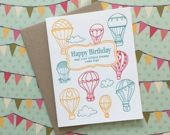 Wildest Dreams Birthday - letterpress