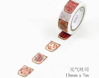 Toast Masking Tape • Bread Breakfast Washi Tape (LF15-6570)