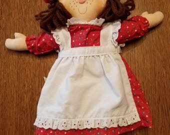 1982 Hallmark Christmas Doll Fabric Rag Doll