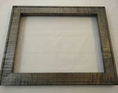 9x12 Curly Maple Silver Gray Dye Picture Frame