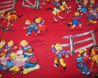Cowgirls and Cowboys Flannel Toddler/Travel Pillowcase