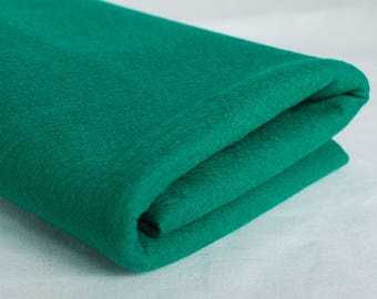 100% Pure Wool Felt Fabric - 1mm Thick - Made in Western Europe - Bright Forest Green