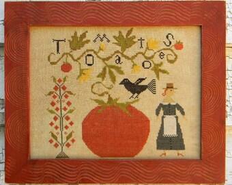 Tomato Season - PAPER {mailed} Cross Stitch Pattern - from Notforgotten Farm™