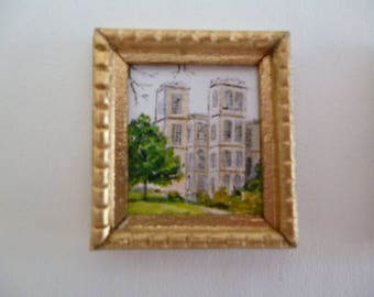 One 48th Scale prints (They are Tiny Wee!!) A Tudor style print of Hardwick hall in Derbyshire. Home to Bess of Hardwick .