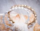 Spiked Shell Cuff | Sterling Silver or Bronze Cuff | Cuff Bracelet
