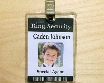 Ring Security, Ring Bearer Gift, Ring Bearer Security Badge, ID Badge, Ring Bearer Badge, Ring Bearer Gifts, Wedding Gift, Version #1