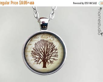 ON SALE - Family Tree : Glass Dome Necklace, Pendant or Keychain Key Ring. Gift Present metal round art photo jewelry by HomeStudio