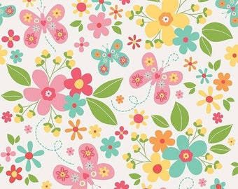 20EXTRA 20% OFF Riley Blake Designs Garden Girl by Zoe Pearn - Main White
