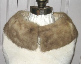 mink fur collar . vintage Blond Mink Fur Collar . Mink Collar . mink fur collar