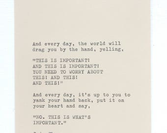 Typewriter Quote by Iain Thomas - This Is Important