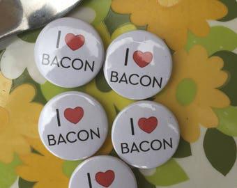 I Love Bacon Refrigerator Magnet