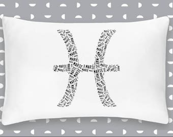 Personalized Pisces Zodiac Pillowcase Room Decor Beach House