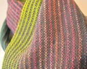 Hand woven and dyed wool scarf