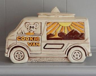 1970s Cookie Van Cookie Jar by Treasure Craft