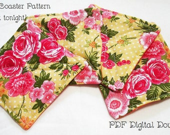 PDF Instant Download File - Quilted Coasters - Easy Instructions