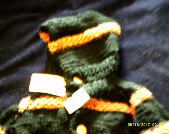 Hooded Cardigan Sweater, Child's size Medium