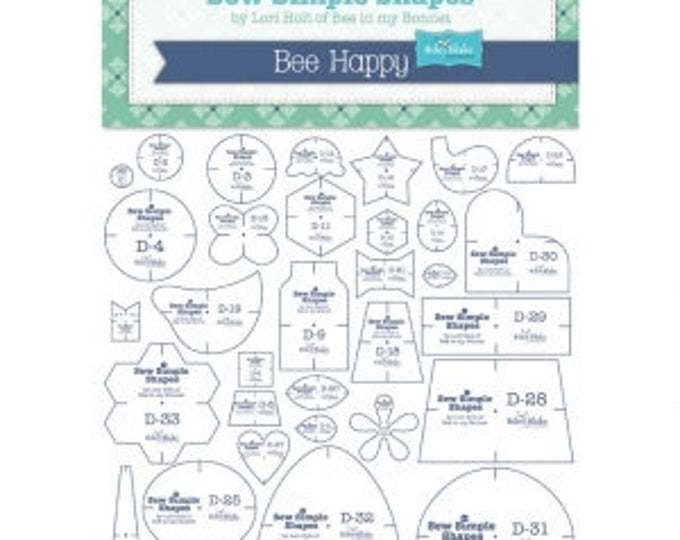 Featured listing image: Bee Happy Shapes by Lori Holt of Bee In My Bonnet Template Rulers