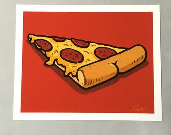 Pizza with a BUTT signed print!