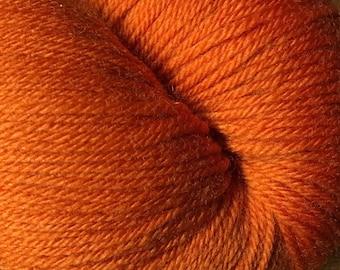 Pumpkin Orange Cascade Heritage Yarn 437 yards Super Fine Wool Nylon Sock Yarn Color 5646