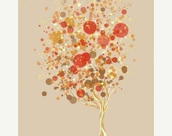 50% Off Summer Sale - Contemporary Tree Art - Candy Bubble Tree - 8x10