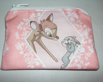 Bambi Thumber handmade fabric coin change purse card holder