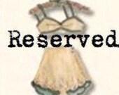 Reserved Custom Listing for Stefanie