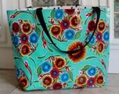 Monogrammed Tote Bag - Custom Oilcloth Beach Bag