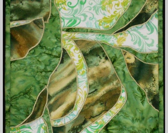 Home decor/Table runner - table topper - color study in greens-center placemat
