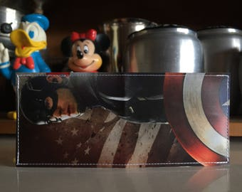 Captain America Disneyland Map Wallet