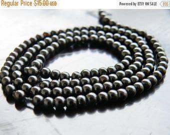 Deep Discount Sale Black Onyx Gemstone Smooth Round 4.5mm 80 beads Full strand