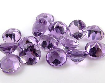 Brazilian Amethyst Faceted Round Gemstone ~ Various Sizes